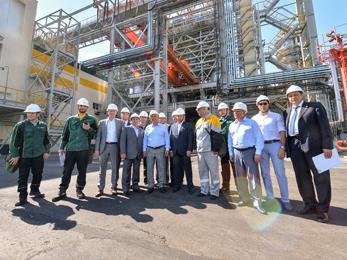 В рамках торжеств, посвящённых 50-летию Нижнекамска Президент республики Татарстан посетил ряд промышленных предприятий, расположенных на территории Нижнекамского муниципального района
